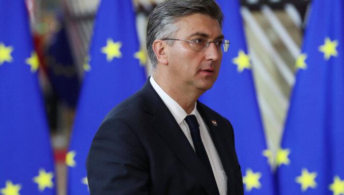 Horvātijas parlamenta vēlēšanās pārliecinoši uzvar konservatīvie