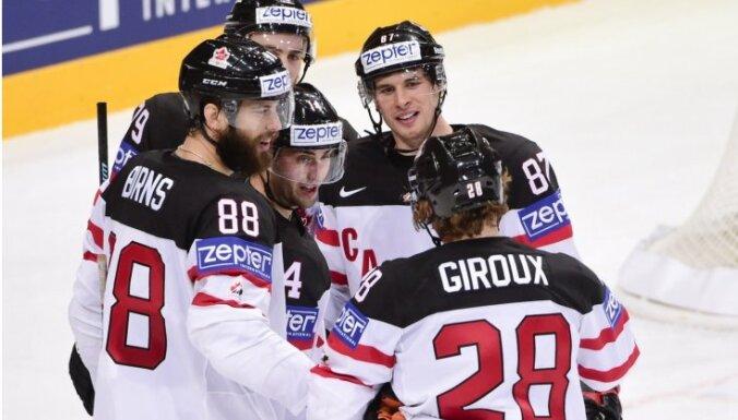 Kanādas hokejisti pasaules čempionātā sagrauj arī Šveici