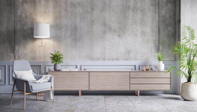 11 ideju, kā mājoklī ienest aktuālās betona vēsmas