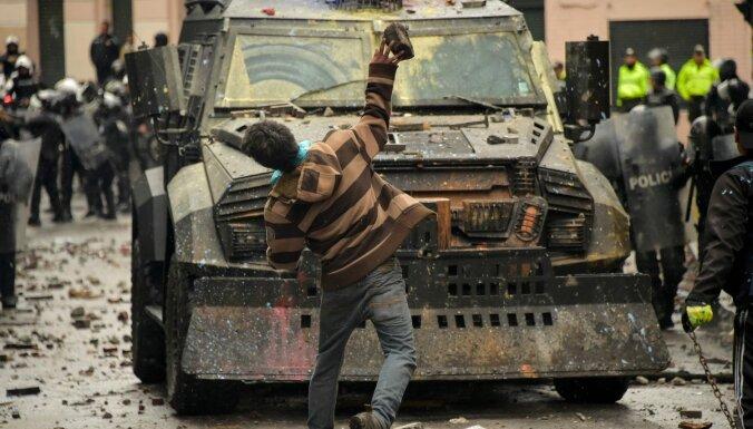 Ekvadoras prezidents izsludina ārkārtas stāvokli degvielas protestu dēļ