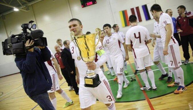 Футзалисты Латвии обыграли эстонцев на Кубке Балтии