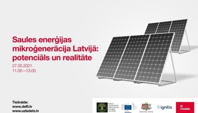 Tiešraide : Elektrības mikroģenerācijas pieslēgumi Latvijā un Lietuvā 1:10