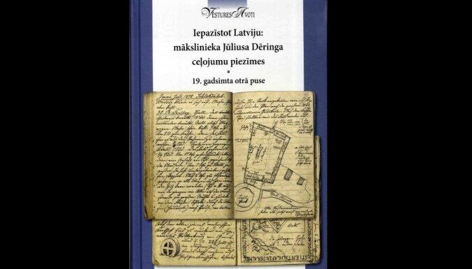 Apkopotas baltvācu mākslinieka Jūliusa Dēringa ceļojumu piezīmes