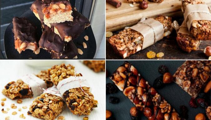 Veselīgāks našķis līdzņemšanai – pašgatavoti batoniņi: 10 receptes un noderīgi padomi