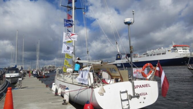 Latvijas jahta 'Spaniel' izcīna godalgotas vietas regatē 'The Tall Ships Races 2012'