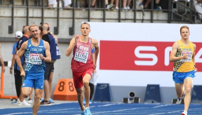 Leitis ar jaunu Latvijas rekordu iekļūst EČ pusfinālā 400 metru skrējienā