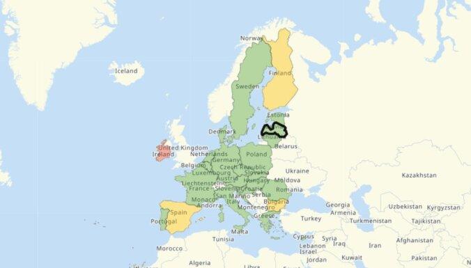 ES valstu noteiktie ierobežojumi vienuviet: izveidota interaktīva karte ceļotājiem