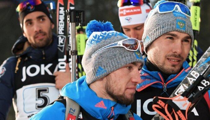 Martin Fourcade, Alexander Loginov, Anton Shipulin
