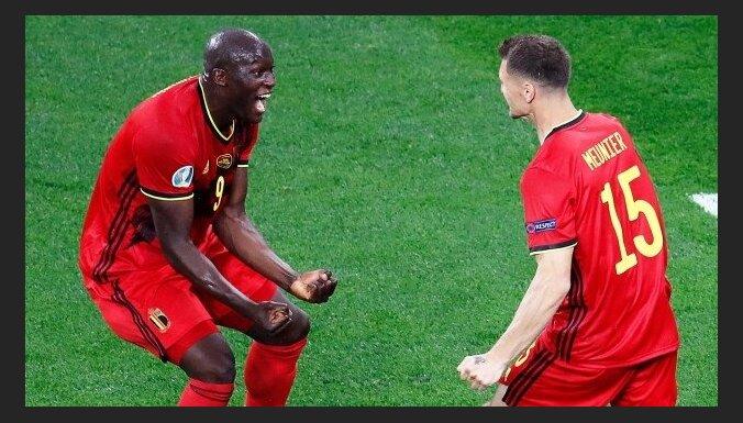 Beļģijas futbolisti 'Euro 2020' ievadā Sanktpēterburgā pārliecinoši pieveic Krieviju