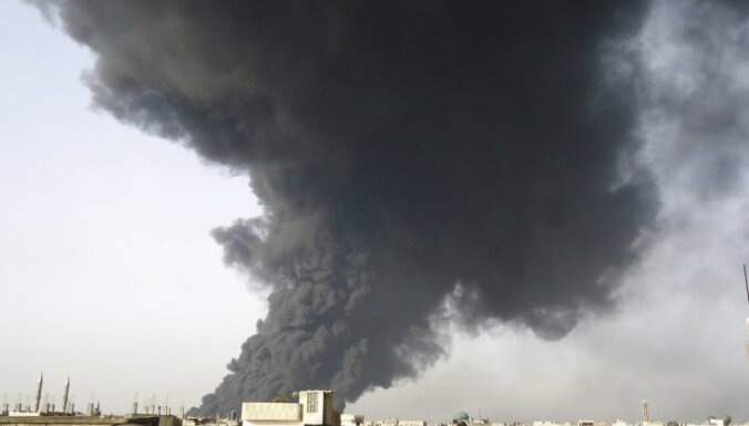 В сирийском Хомсе возник мощнейший пожар