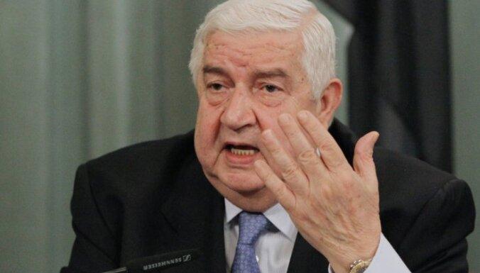 Sīrijas ārlietu ministrs: ASV un Francija atbalsta terorismu