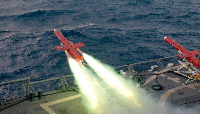 Kļūmes dēļ bezpilota lidaparāts ietriecies ASV raķešu kreiserī