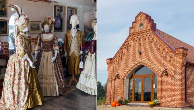 Iepazīstot Bauskas pusi: smalka rokoko tērpu ekspozīcija Mazajā muižā