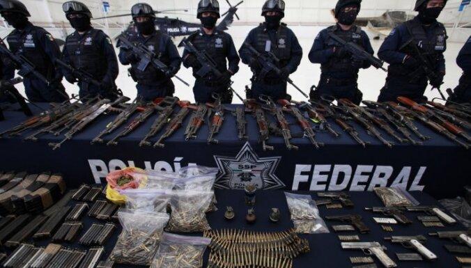 Meksikā aizturēts viens no narkokarteļa 'Zetas' vadoņiem