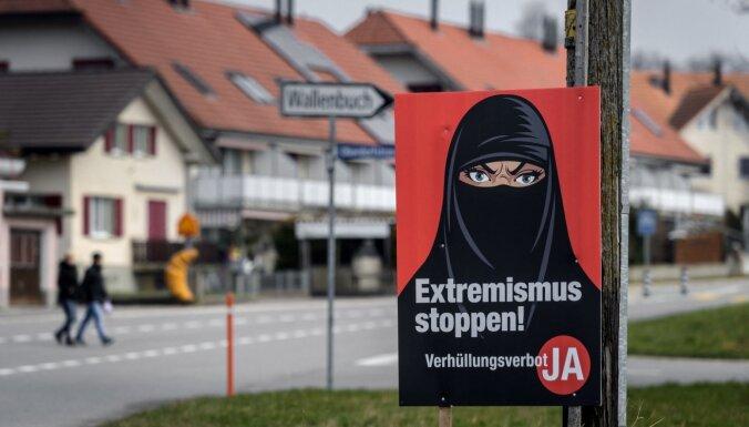 Sākotnējie rezultāti: Šveices vēlētāji referendumā atbalstījuši parandžu aizliegumu