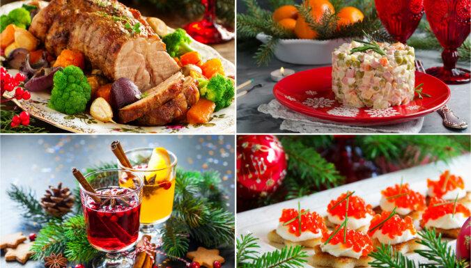 Ko celt galdā Ziemassvētkos un gadumijā: ērts recepšu špikeris no A līdz Z