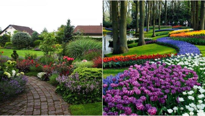 Pavasari gaidot: krāšņi dārzi Latvijā un pasaulē, kur smelties iedvesmu