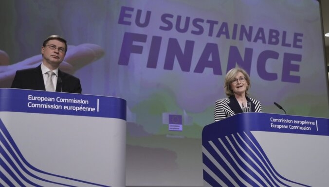 Mareida Makginesa, Valdis Dombrovskis: Finansējums zaļai nākotnei