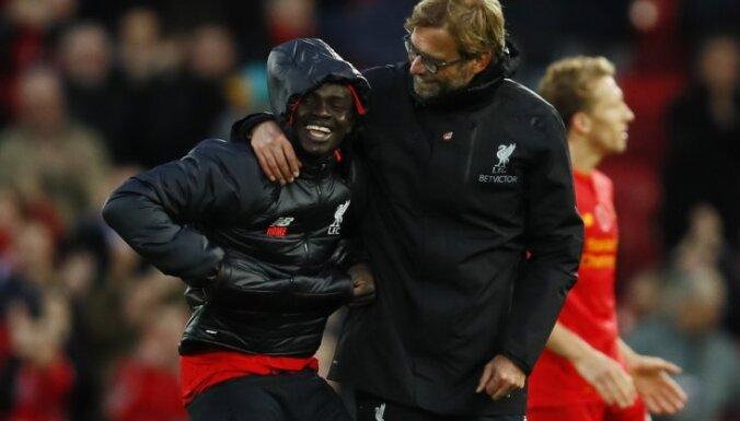 Liverpool manager Juergen Klopp and Sadio Mane