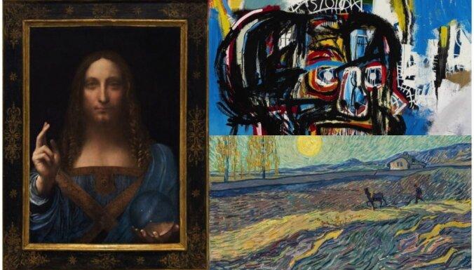 10 pasaulē dārgākie mākslas darbi, kas pārdoti 2017. gadā