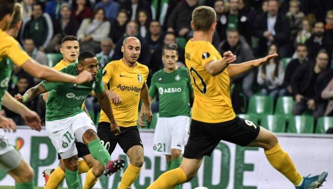 Dubra un 'Oleksandriya' UEFA Eiropas līgas spēlē cīnās neizšķirti