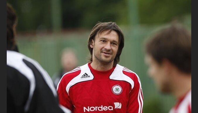 Latvijas futbola izlases treniņš 2010. gada 14. jūnijā