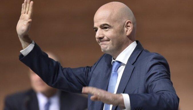 Infantīno uz četriem gadiem saglabā FIFA prezidenta amatu