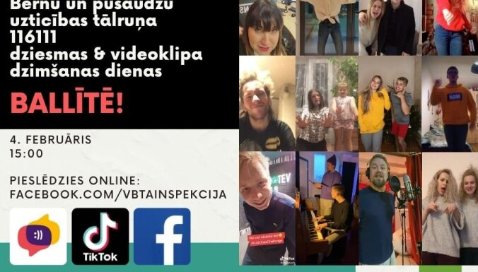 VBTAI tiešsaistes pasākumā aicina iepazīties ar Uzticības tālruņa jauno dziesmu un videoklipu