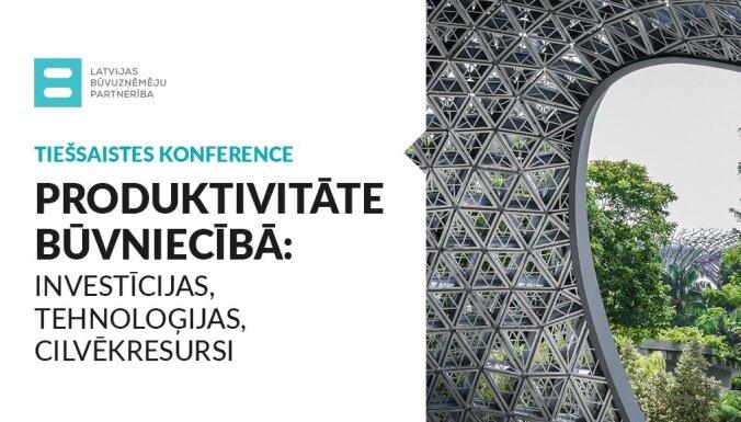 Tiešsaistes konferencē diskutēja par produktivitāti būvniecībā. Ieraksts.
