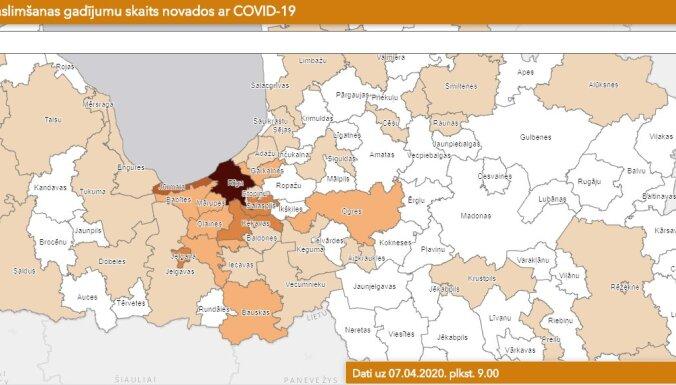 Covid-19 Latvijā: jauni novadi nav skarti