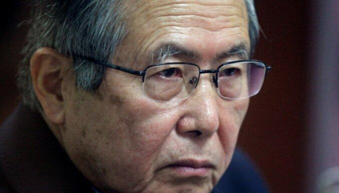 Peru eksprezidents Fuhimori no cietuma nogādāts slimnīcā