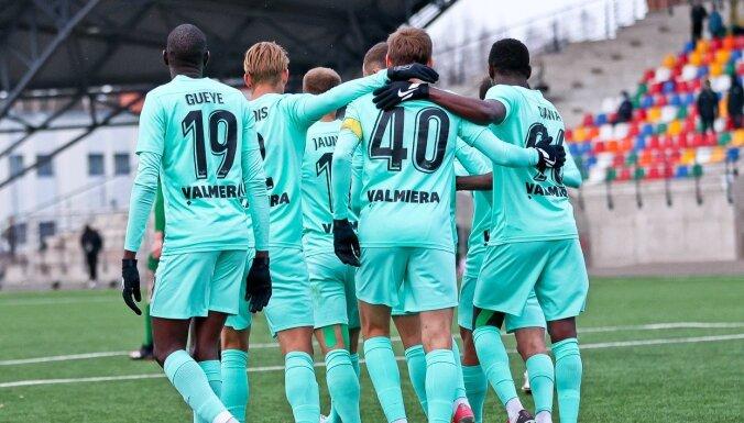 'Valmieras' futbolisti pārbaudes spēlē uzvar 'Daugavpils' komandu