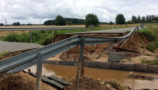 Pašvaldības infrastruktūras atjaunošanai pēc plūdiem lūdz gandrīz trīs miljonus eiro