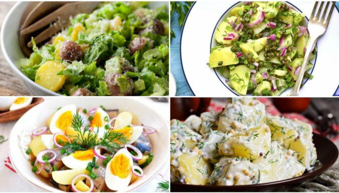 Sātīga maltīte bez gaļas: 20 kartupeļu salātu receptes izcilam garšu baudījumam