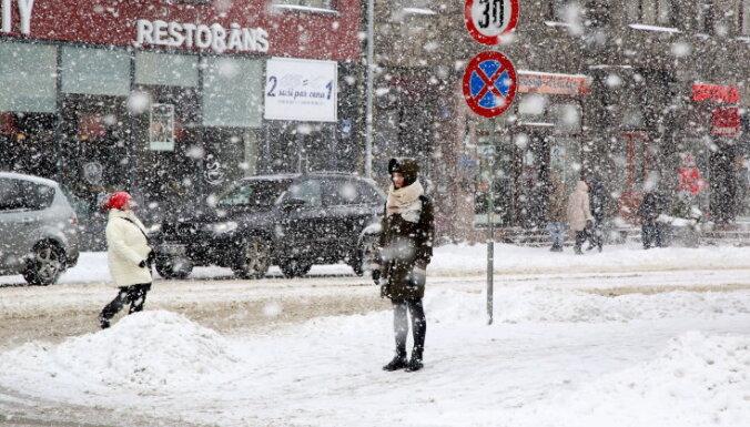 Oranžais brīdinājums: Rīgai tuvojas kārtējais sniegputenis