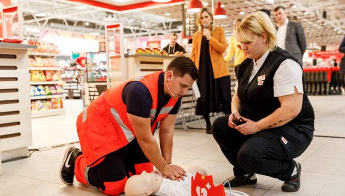 В гипермаркетах Rimi установлены приборы, спасающие при остановке сердца
