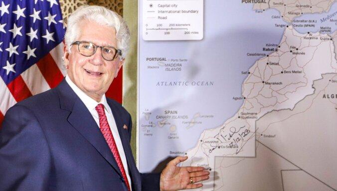 ASV atzīst Marokas suverenitāti pār strīdīgo Rietumāfrikas teritoriju