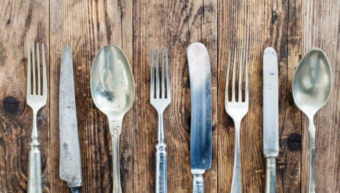 Viegli īstenojamas idejas, ko iesākt ar veciem galda piederumiem