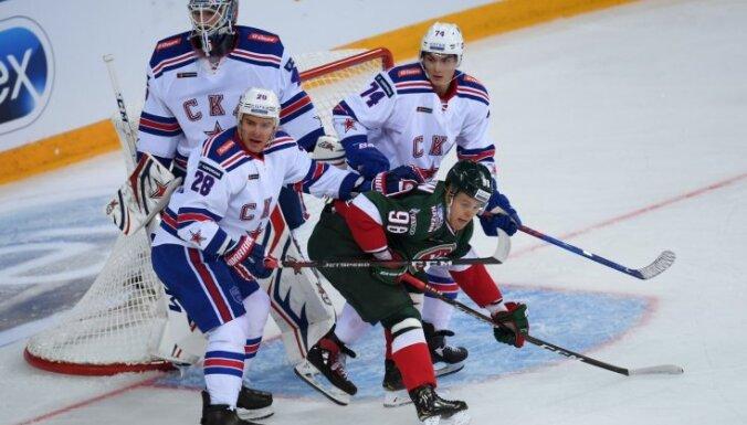 KHL sezonas atklāšanā SKA sagrauj 'Ak Bars' hokejistus