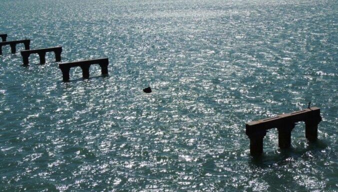 Возведена первая трехметровая опора Керченского моста в Крым