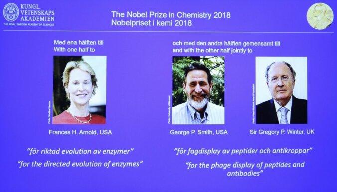 Nobela prēmija ķīmijā piešķirta par proteīnu izstrādi