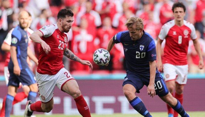 Kritizē UEFA lēmumu Dānijai likt pabeigt spēli pēc Ēriksena saļimšanas
