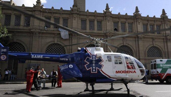 Argentīnā vilciena avārijā ievainoti 40 cilvēki