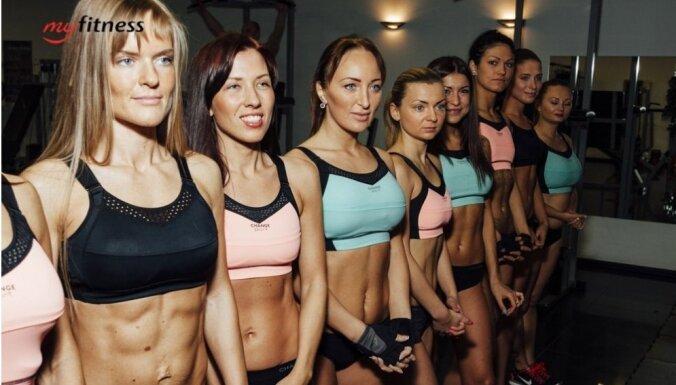 Foto: 'Miss Bikini Fitness' dalībnieču progress un pirmajās nedēļās gūtā pieredze