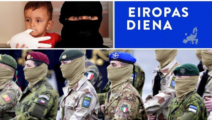 'Eiropas diena': Eiropas armijas ideja un afgāņu noturēšana pie Afganistānas