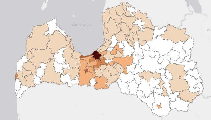 Covid-19 inficēto skaits palielinājies Rīgā un Valmierā