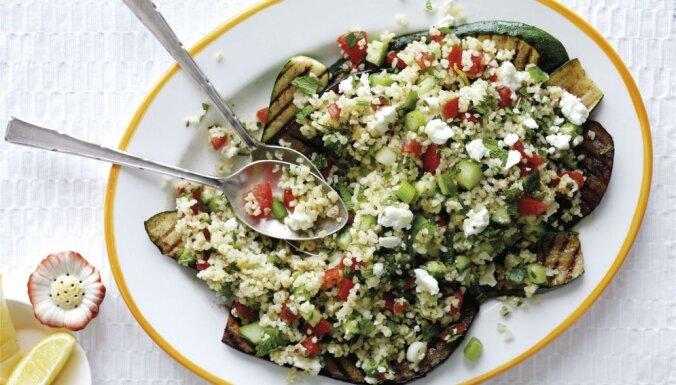 Bulgura salāti ar baklažāniem