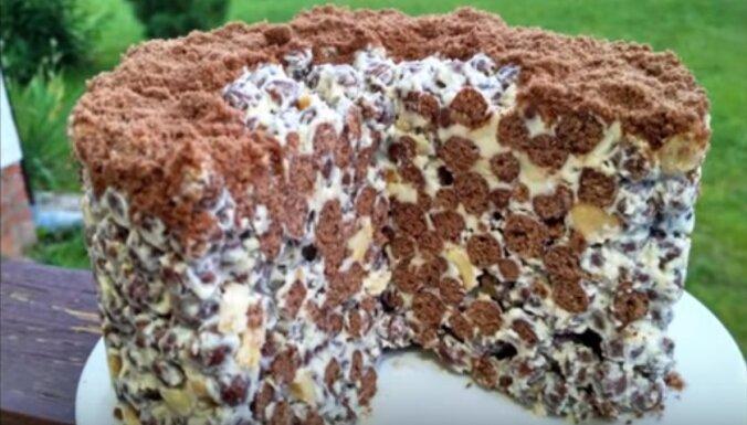 Торт за пять минут из четырёх продуктов
