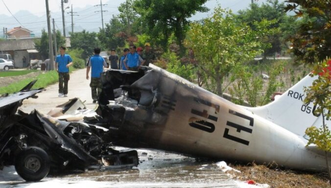 Dienvidokorejā avarē Krievijā būvēta lidmašīna