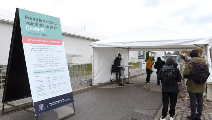 Sestdien vakcinācija pret Covid-19 pamatā notikusi divos lielajos vakcinācijas centros Rīgā